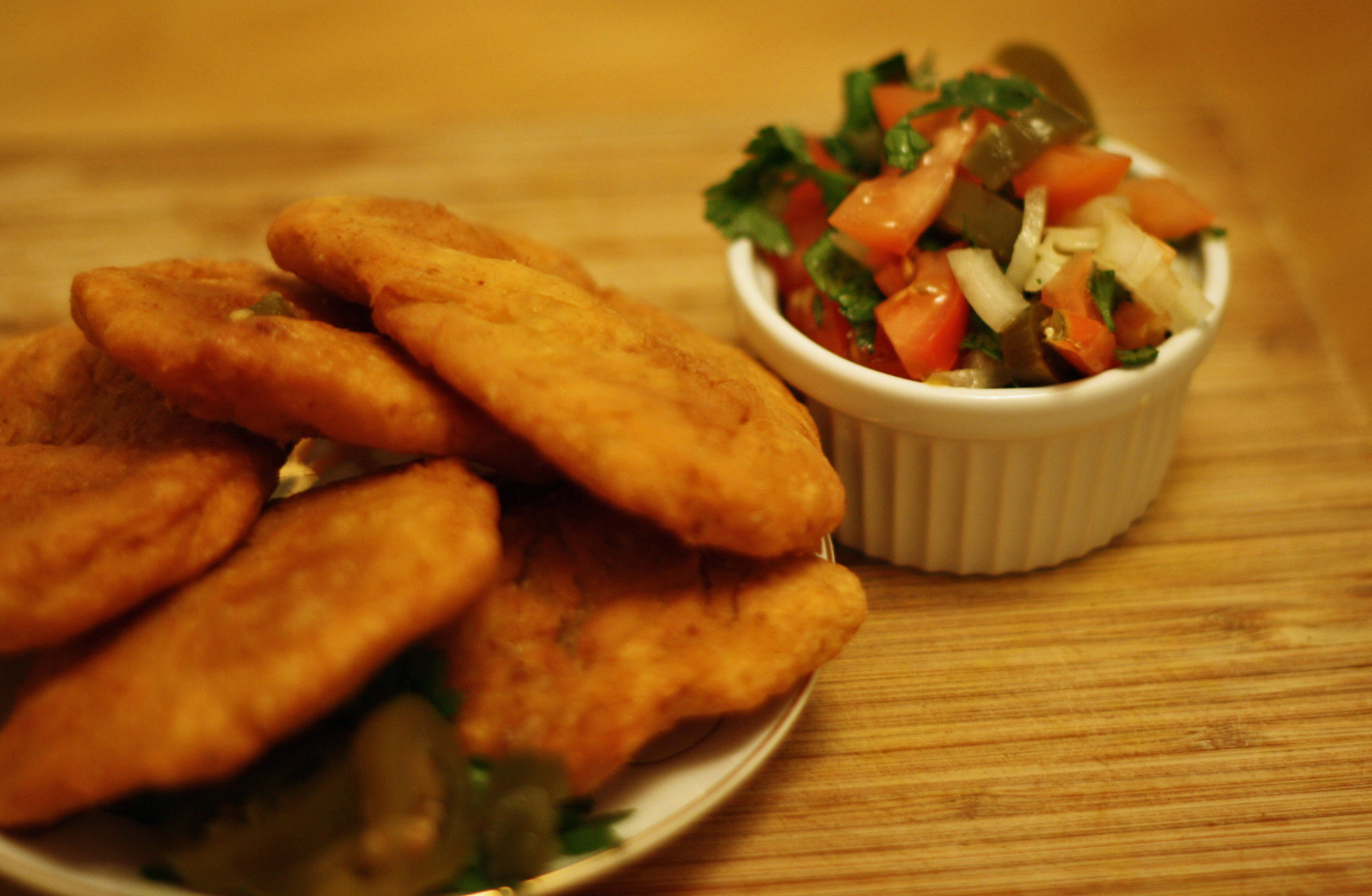 Week 26 Chile. Sopaipillas con Pebre | Riverbank & Badger